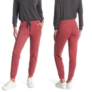 NWT White Willow Knit Red Joggers Lounge Pants